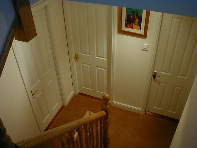 Room Doors from the Stairs